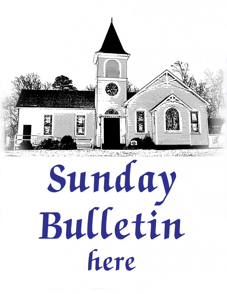 Sketch of church for bulletin