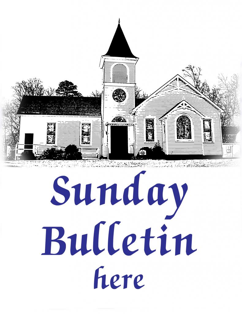 Sketch of church for bulletin