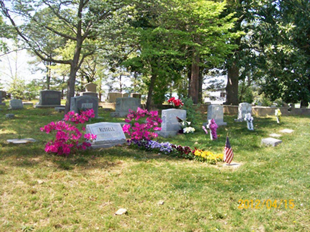 Cemetery Scene with Azaleas