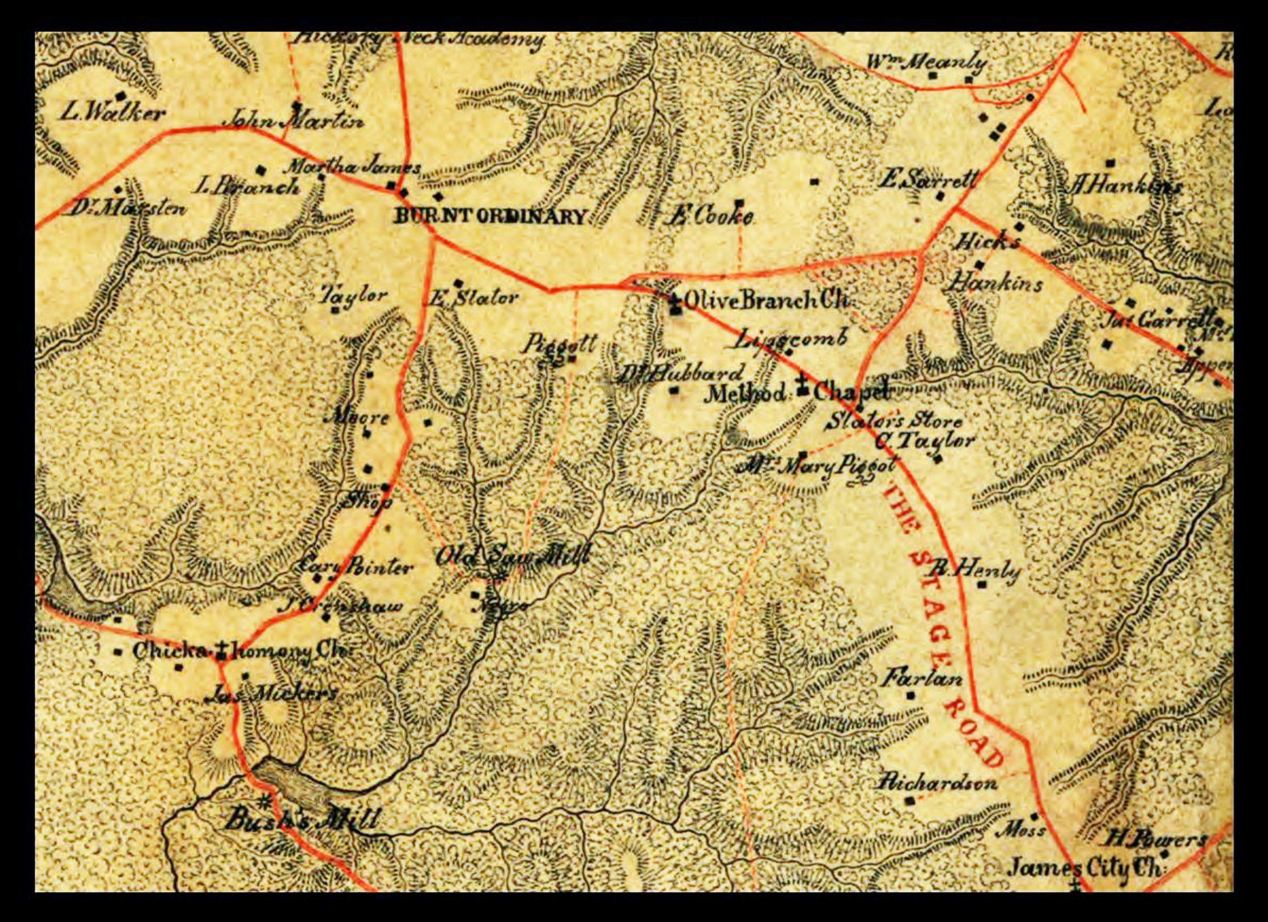 Map of Burnt Ordina