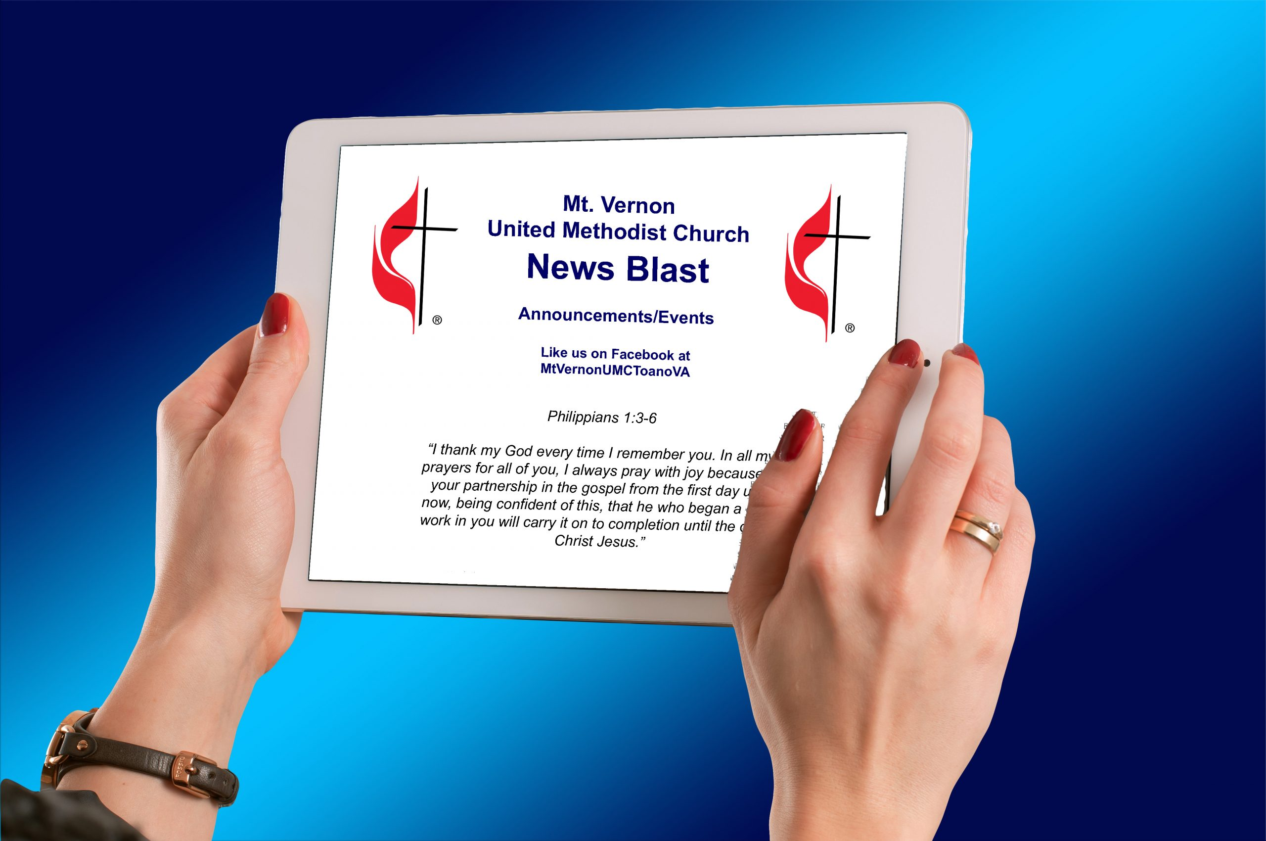 Mt. Vernon UMC News Blast