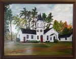Oil Painting of church