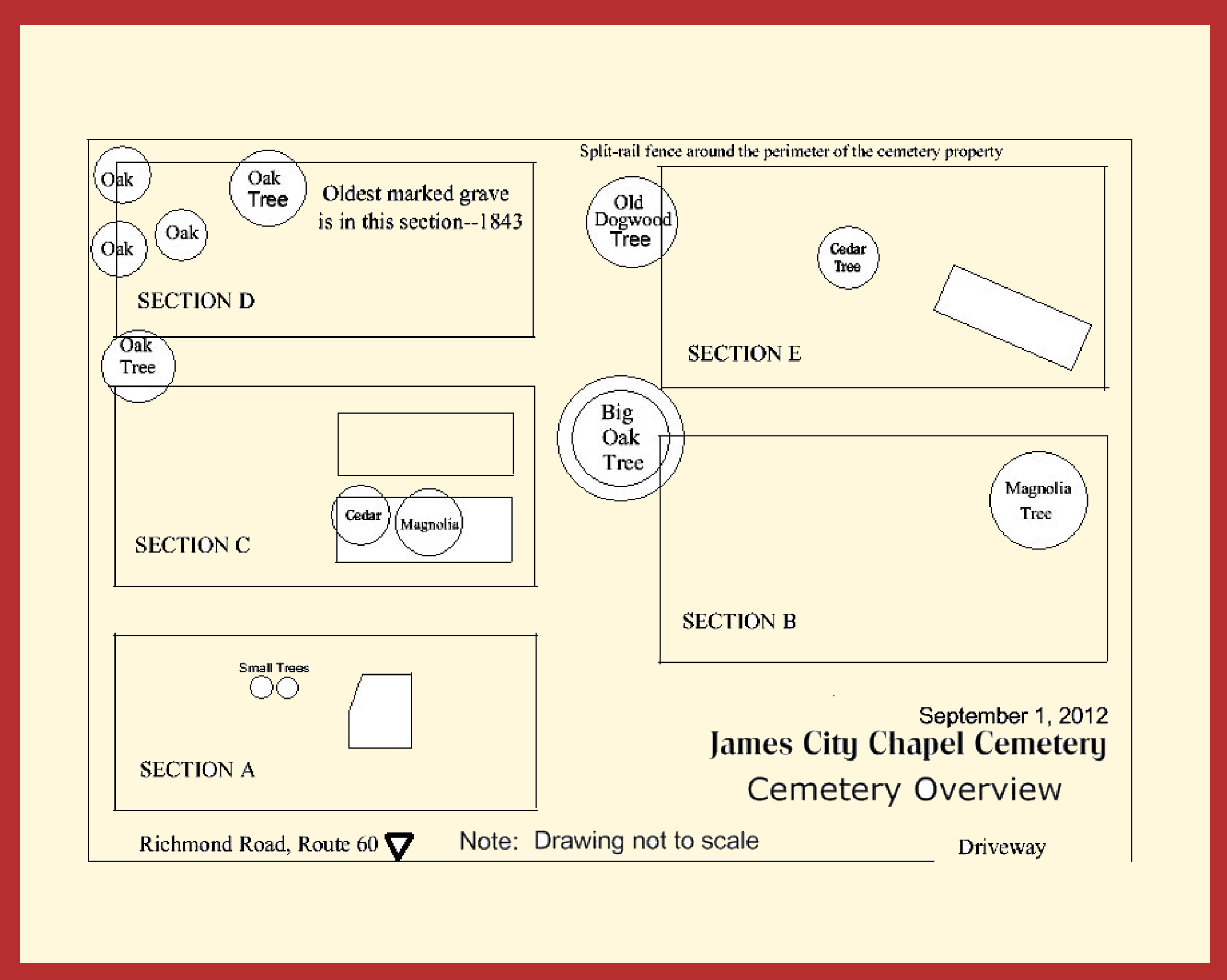 Overview Map of Cemetery